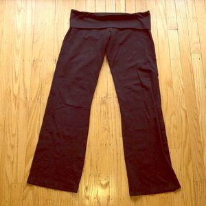 Pants - Temple black fold over yoga pants